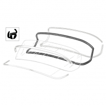 Back Glass Seal - Customline - with Groove for Chrome