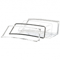 Windshield Seal - with Groove for Chrome - Convertible & Victoria
