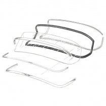 Back Glass Seal - Mercury - Sun Valley & Sport Coupe