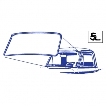 Windshield Seal - with Groove for Chrome
