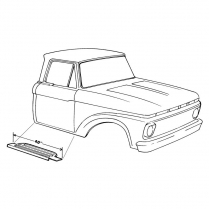 Running Board Step Plate - 1961-64 Ford Truck
