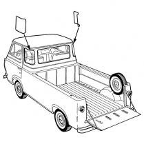 Quarter Window Seal - 1961-67 Ford Truck