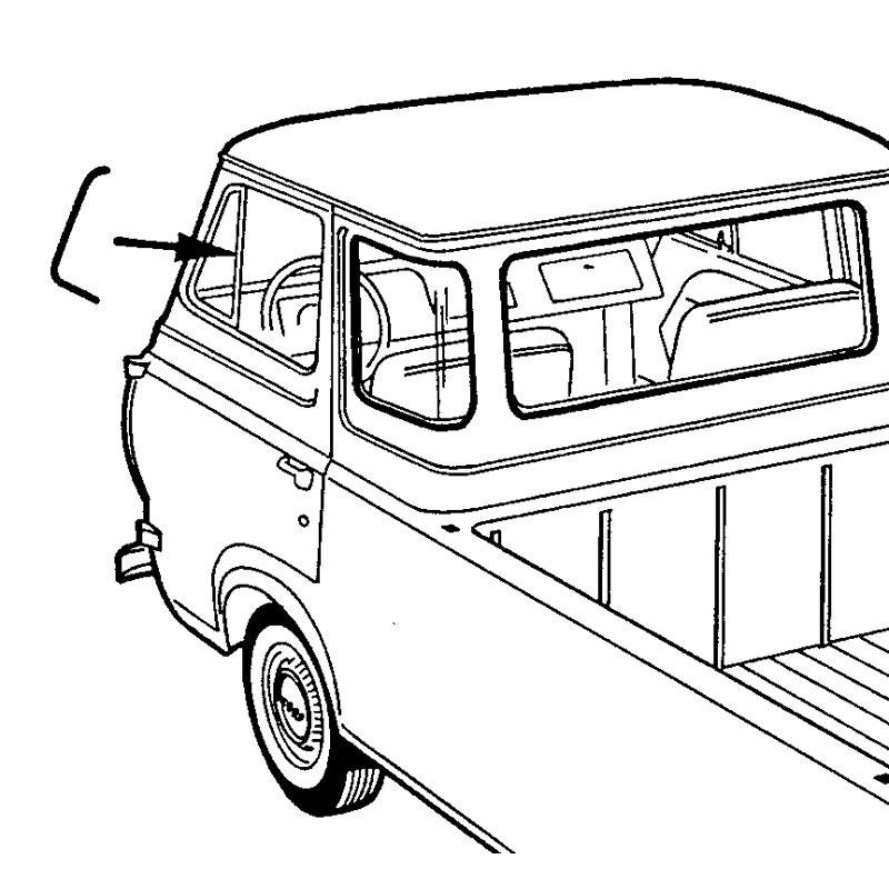 61 67 Econoline Vent Window Se Shop Ford Restoration Parts For Your