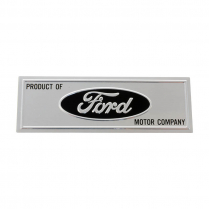 Scuff Plate Name Plate - Black - 1966-67 Ford Bronco, 1963-66 Ford Car