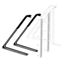 Vent Window Rubber Seals - Galaxie - Hardtop & Covertible