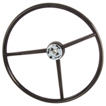 Steering Wheel - 3 Spoke In Black - 1961-70 Ford Truck, 1960-63 Ford Car