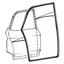 Door Seal Kit - Galaxie - 4 Door Sedan - Rear Door