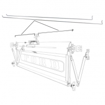 Tailgate Release Rod - Pair