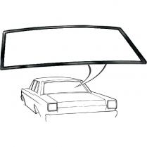 Back Glass Seal - Galaxie - Custom & Custom 500 - 2 & 4 Door Sedan