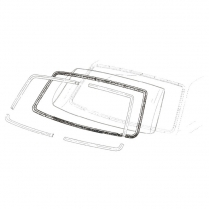 Back Glass Seal - Fairlane & Comet - 2 Door Hardtop
