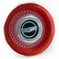C6AZ-1141-A HUB CAP-CENTER EMBLEM RED PLAS