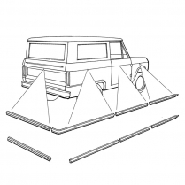 """Body Moulding Kit - 1 1/4"""" wide for without Spare Tire - 1966-77 Ford Bronco"""