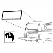 Back Glass Seal - Bronco - Liftgate - without Groove for Chrome - 1966-77 Ford Bronco