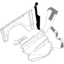 fenders shop ford restoration parts for your vintage ford car truck 2017 Ford Truck fender seal