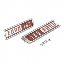 Hood Side Emblems - F100 - 1 Pair - 1967 Ford Truck