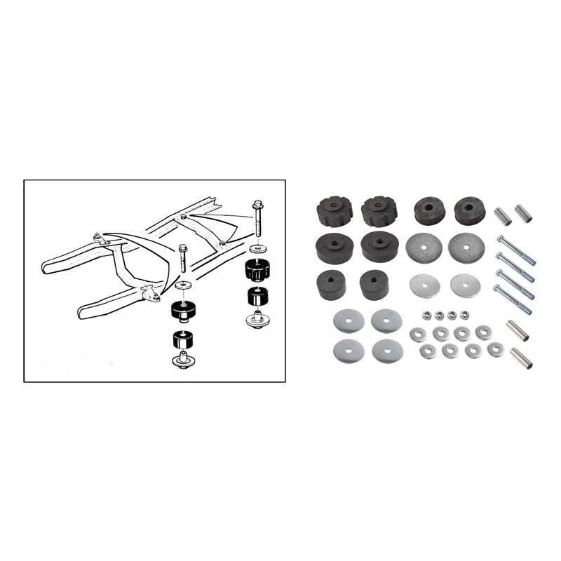 F350 Cab to Frame Mounting Kit C7TZ-5400S New 1967-72 Ford F-Series F100 F250