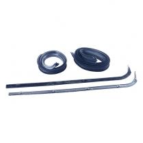 Door Glass Anti-Rattler Kit - with Black Bead