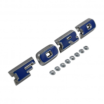 FORD GRILLE LETTERS CHROME  W/