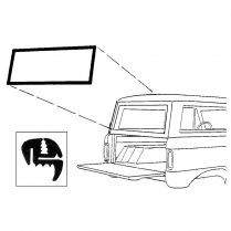 Back Glass Seal - Bronco - Liftgate - with Groove for Chrome - 1966-77 Ford Bronco