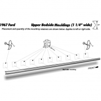Pickup Upper Short Bed Molding