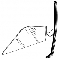 Door Glass Seal - 1968-69 Ford Car