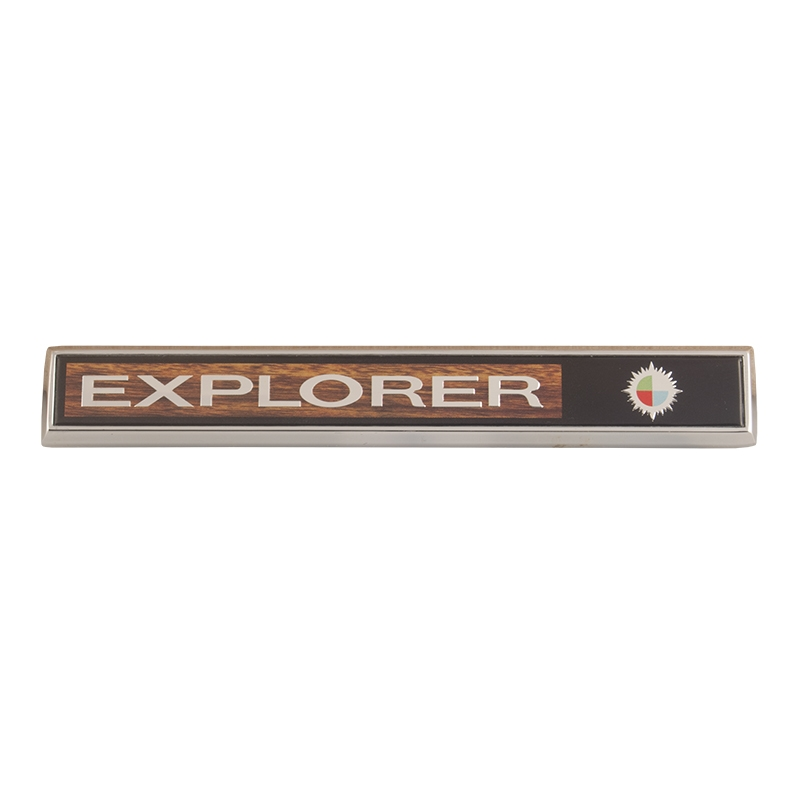"Glove Box Emblem - ""Explorer"" - 1969-71 Ford Truck, 1972-77 Ford Bronco"