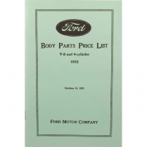 Book - Body Parts List Manual - 1932 Ford Truck, 1932 Ford Car