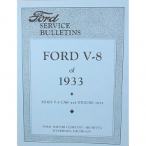 Book - Service Bulletins - 1933 Ford Truck, 1933 Ford Car