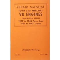 Book - Repair Manual - 1937-47 Ford Truck, 1937-48 Ford Car