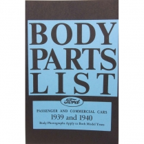 Book - Body Parts List Manual - 1939-40 Ford Truck, 1939-40 Ford Car