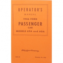 Book - Operator's Manual - V8 - 1946 Ford Car