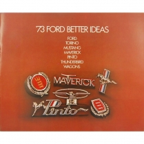 Book - Ford Better Idea Sales - 1973 Ford Car
