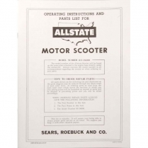 Allstate Parts Book & Owners Manual - 1958-62 Cushman Scooter
