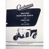Owners Manual - 1954-57 Trucksters - 1952-59 Cushman Scooter