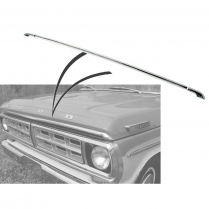 Hood Lip Molding Set of 3 Pieces - 1970-72 Ford Truck
