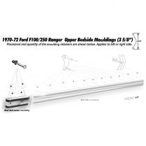 Bed Upper Side Molding Rear Corner