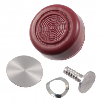 Window Crank Handle Knob - Maroon - 1968-72 Ford Truck, 1968-77 Ford Bronco, 1968-74 Ford Car