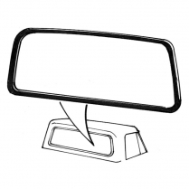 Back Glass Seal - Pickup - with Groove for Wide Chrome