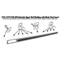 RH Pickup Upper Short Bed Molding