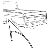 Bed Side Wheel Opening Molding