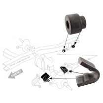 Radius Arm Bushing and Axle Kit - 1973-77 Ford Truck, 1966-77 Ford Bronco