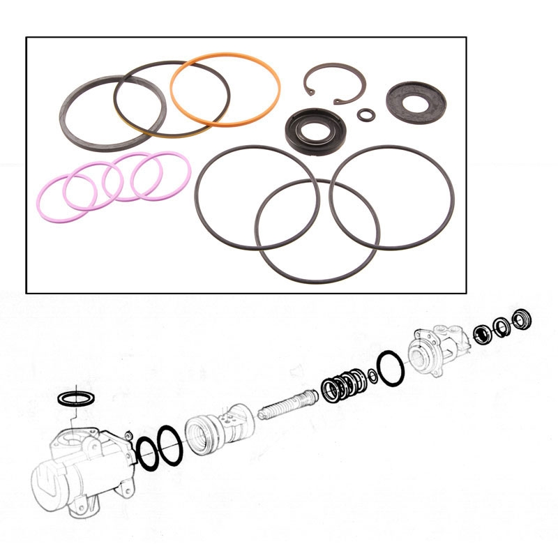 Power Steering Gear Seal Kit - 1967-96 Ford Truck, 1967-96 Ford Bronco, 1965-72 Ford Car
