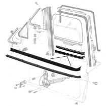 Door Glass Anti-Rattlers - Right