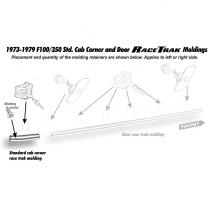 Back Cab Lower Molding -RH