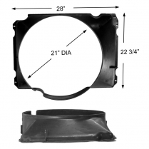 Fan Shroud - 1977-79 Ford Truck, 1978-79 Ford Bronco