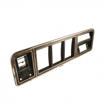 Instrument Panel Cluster Bezel -  Woodgrain - w/ Integral A/C - 1973-79 Ford Truck, 1978-79 Ford Bronco
