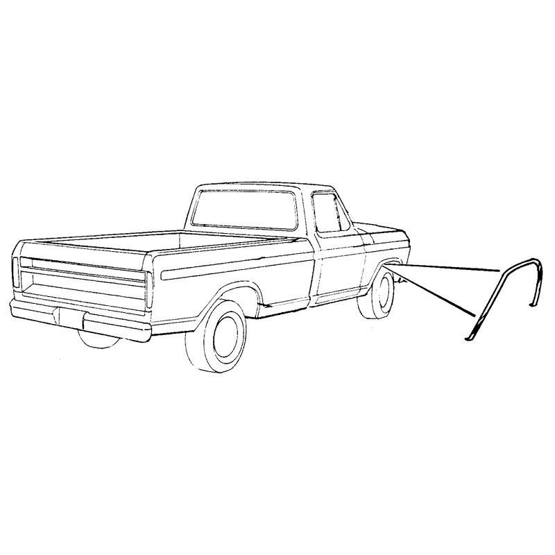 os   f  fender wheel opening ml shop ford restoration parts