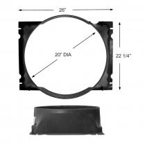 Fan Shroud- Id# D8tz-Ba