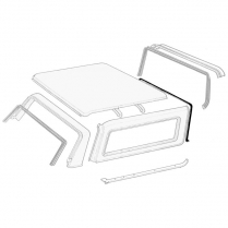 Removable Roof Front Seal - On Fiberglass Roof - 1978-96 Ford Bronco