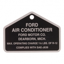 Tag - Air Conditioner - Aluminum - 1966 Ford Truck, 1964-70 Ford Car